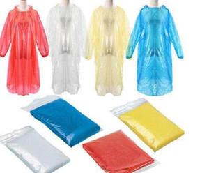 Impermeable emergencia desechables para adultos impermeable del poncho de la capilla de viajes de campaña debe unisex capa de lluvia de una sola vez de Emergencia ropa impermeable 500pcs T1I1808