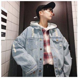 뜨거운 판매 디자이너 남자를위한 진 재킷 빈티지 호화스러운 청바지 유행 상표 외투 새로운 봄 가을 재킷 겉옷 높은 품질