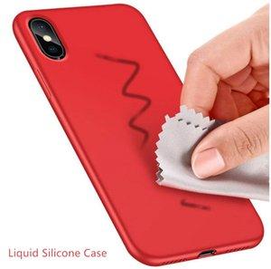 Silicone Gel originale Liquido di caso per iPhone Pro 11 Copertura Max antiurto Soft Phone per iPhon XR 8 Inoltre con la scatola di vendita al dettaglio