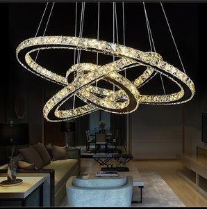 Modern LED Kristal Avize Işıkları Lamba Oturma Odası Için Cristal Cilası Avizeler Aydınlatma Kolye Asılı Tavan Armatürleri