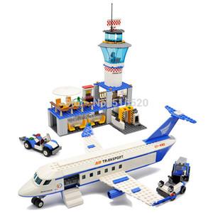 Gudi AirPlane Legoings City Uluslararası Havaalanı Blokları 652pcs Tuğlalar Yapı Taşı Klasik Eğitici Oyuncaklar İçin Çocuklar ayarlar