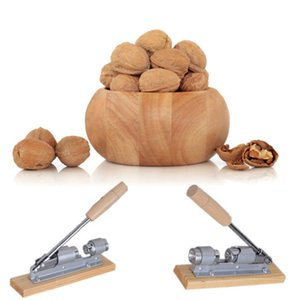 Manual de acero inoxidable Tuerca Cracker Mecánico Sheller Walnut Cascanueces Abridor rápido Cocina Tuerca Cracker Abridor Clip Herramientas