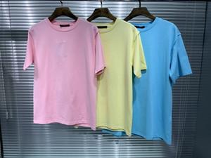 2020 verano nueva gran hombre del diseñador hermoso color de las camisetas de camisetas ~ ~ tamaño de US hombre de alta calidad nuevo diseño de manga corta camisetas