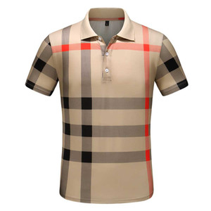 2020 de lujo de Europa París patchwork hombres camiseta para hombre de la moda Los diseñadores camiseta de los hombres ocasionales Ropa medusa algodón de la camiseta del polo de lujo