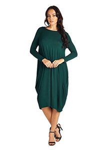 82 Days Women's Various Styles Comfortable Jersey Mid Long Dresses