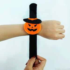 Halloween enfants adultes Bracelet citrouille fantôme araignée chauve-souris en peluche Charm Bracelet Bangle Bracelets Slap Party Bijoux accrochage Décor Faveur