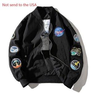 Pilot Jacket Coat Thin Bomber Ma1 Men Bomber Jackets NASA Embroidery Baseball Coats S-3XL Free Shipping