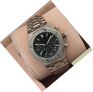 Nueva relojes de cuarzo los hombres de lujo mesa de trabajo Todos los sub-esferas Hombres de acero inoxidable de cuarzo de pulsera cronómetro marca de fábrica superior del mejor regalo de San Valentín