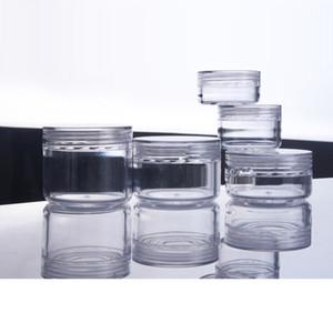 30pcs de pot de crème cosmétique vide en plastique Conteneurs ronde Emballage Pot Glitters boîte de poudre de fard à paupières échantillon Jars Effacer
