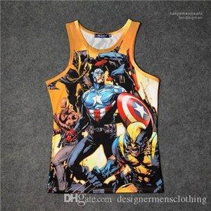 Stampa Vest Fashion Style girocollo maniche magliette causel Abbigliamento Avengers Men Estate Quick Dry 3D