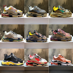 2020New triples s zapatillas de deporte zapatos de plataforma diseñador de moda para las mujeres de lujo negro hombres criados blanco verde para hombre zapato casual caminar al aire libre 36-45