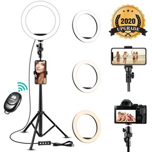 Fern LED Selfie Ringlicht 8-Zoll-dimmbare Kamera-Telefon-Ring-Lampe mit Stativ Telefon-Halter für Make-up Video Live Studio