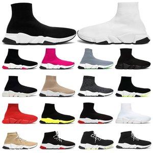 Balenciaga Designer Meias Sapatos para Homens Triplo Preto Branco Bege Cinza Verde Clássico Meias Atacadores Sapatilhas Formadores Tênis Esportivos tamanho 36-45
