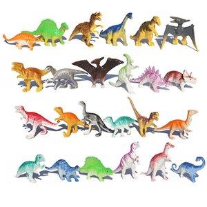Boy Hediye İçin Çocuk Oyuncaklar İçin 10pcs / lot Toplu Mini Dinozor Modeli Çocuk Eğitici Oyuncaklar Sevimli Simülasyon Hayvan Küçük Figürler