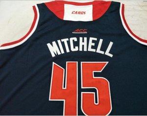 mulheres costume Homens Jovens Vintage Louisville Cardinal # 45 Donovan College Basketball Jersey Tamanho S-6XL ou personalizado qualquer nome ou número de camisa