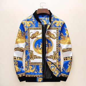 Fall Winter 2020 Men's Business Jacket Medusa Fashion Jacket Men's Casual Male Bomber Jacket European and American Style