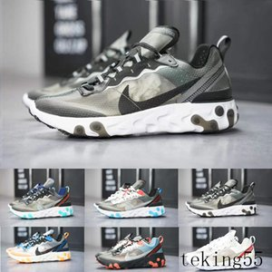 UNDERCOVER x Upcoming Air React Element 87 Pack White Sneakers Brand Men Women Trainer Men Women Running Shoes Zapatos W-CH2