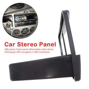 20191 DIN DVD Alınlık Paneli Çerçeve Car Stereo Radyo Plaka Ses Dash Ford Fiesta Focus için Montaj Kiti Adaptörü 1998-2006