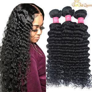 Wholesale Unprocessed Brazilian Deep Curly Virgin Hair Weaves Bundles Peruvian Malaysian Indian Deep Curly Wave Human Hair Extensions