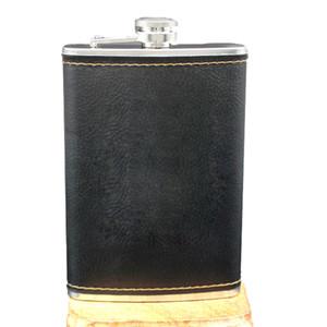 ventes à chaud de haute qualité en acier inoxydable 9 Oz Flasque Bouteille de vin Whisky rétro en cuir Gravure alcool poche pichet avec des cadeaux Box
