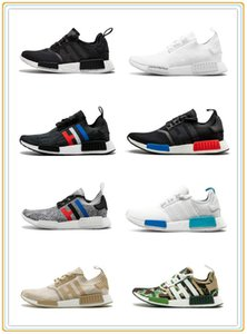 NMD running shoes, R1 Oreo Runner Nbhd Primeknit OG Triple Black White Camo Running Shoes Men Women Nmds Runners Xr1 Sports Shoe