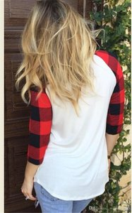 Valentines Day Drshirts Print Casual Sleeve Fashion Plaid Designer Lungo Love Tees Womens Womens Femmine Abbigliamento OFAAK