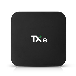 TX8 Android 9.0 TV Box Rockchip RK3318 4GB 32GB 64GB Dual WIFI BT 4.0 USB 3.0 Smart TV Box