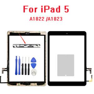Nuevo Año 2017 A1822 A1823 pantalla táctil para el iPad 5 Cristal quinta generación digitalizador LCD frontal exterior con la etiqueta engomada