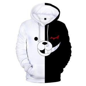 Aikooki Hot Sale Monokuma 3D Hoodie dos homens / mulheres Moda Casual engraçado Sweatshrit 3D Imprimir Monokuma Mens Hoodies Top