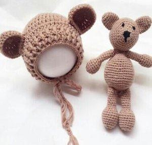 새로운 유로 - 미국 스튜디오 어린이 사진 의류 신생아 스웨터 정장 아기 사진 양복 곰