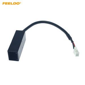 FEELDO Car Radio Audio 4Pin Connector to USB Input Wire Adapter For Honda CRV City Mitsubishi ASX USB Cable #6366