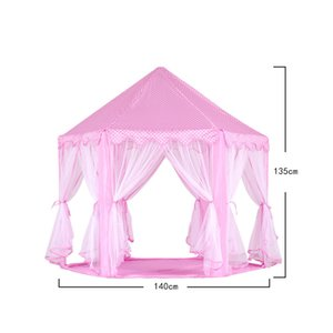 SONYI Monobeach Princess Tent Girls Large Playhouse Kids Castle Play Tent for Children Indoor and Outdoor Princess Castle Play House Pink