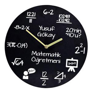 الدالة Funcy Formula Number Wall Clock War Wood Quartz Wall Clock Home Decor