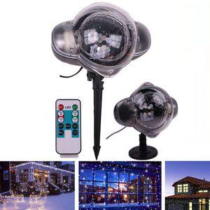 Edison2011 LED 무대 조명 크리스마스 신년 파티 빛 방수 이동 눈 레이저 프로젝터 램프 눈송이 빛 정원 램프