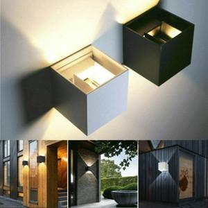 브랜드 새로운 현대 12 와트 LED 벽 실내 야외 보루 조명 램프 조명기구 정원 홈 가정용 벽 램프 북유럽 스타일