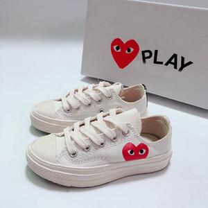 2019 nuevos ojos grandes amor corazón 1970s niños correr skate zapatos niño niña joven niño deporte zapatilla de deporte tamaño 28-35