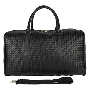 Leather PU Large Large Capacity Diamond Travel Handbag Woven Bag Suitcase Bag Knitted Men Lattice Travel Waterproof Kanye West Ssefg
