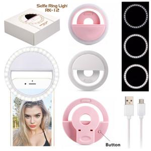 Clip universal USB portátil recargable Smartphone Fotografía Vídeo Webcast aro de luz LED LED DHL luz selfie