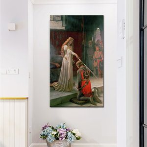 1 Pcs England Famous Painter Edmund Blair Leighton Accolade Posters Print on Canvas Wall Art Canvas Painting for Living Room No Frame