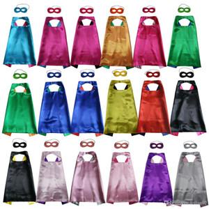 Capa de superhéroe de dos capas lisas de 27 pulgadas con juego de máscaras Elección de superhéroes de 18 colores Elección de disfraces para el cumpleaños Cospaly navideño