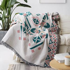 Bohemia decorativo manta del sofá de la sala de estar de fundas de punto Tema Throw tela escocesa Piano a prueba de polvo cubierta Mantel Tapiz