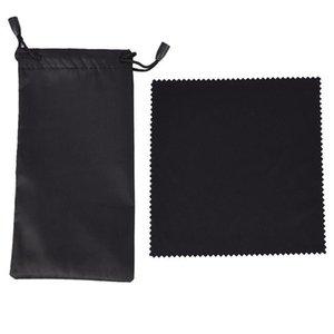 1pc chiffon doux Lunettes de soleil Sac en microfibre poussière étanche pochette de rangement lunettes sac de transport portable Lunettes Case Container