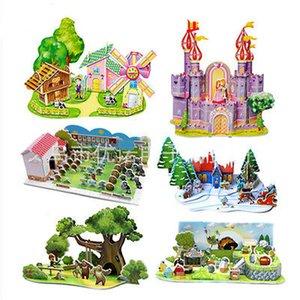 3D puzzle ha montato muffa handmade Castello per Kid Corporatura Collect costruzione di casa Castello Bambino educazione della prima infanzia ZJK06