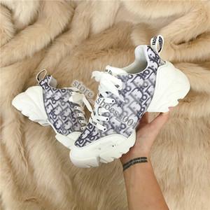 Dior 19SS shoes 2020 xshfbcl весна лето дизайнер повседневная обувь моды цветы спорта обувь женщина работает печать кружева толстым дном роскошь Боулинг обуви