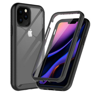 TPU+PC+Acrylic Frame Bumper Transparent Clear Case Cases for iphone 12 11 Pro Max 6 6s 7 8 Plus X Xs XR Cover