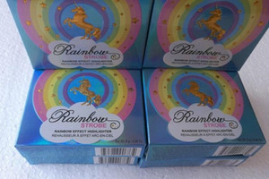 Rainbow Strobe Highlighter Compact Life's A Festival 5 Multicolor Bronzer Highlighters Palette Face Powder