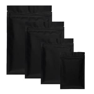 100 pz opaco nero piccolo foglio di alluminio con zip serratura a zip sacchetti di plastica odore a prova di erba a polvere termostato sigillabile piatto zipplock sacchetto