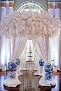 6-28 zoll (15-70 cm) DIY Straußenfedern Plume Centerpiece für Hochzeitsfest-Tischdekoration Hochzeitsdekorationen geben Verschiffen frei