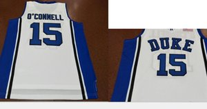 15. Alex O Connell Duke Blue Devils Koleji Basketbol Jersey Boyut S-5XL Vintage veya özel herhangi bir ad veya numara forması Custom Erkekler Gençlik kadınlar