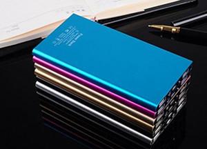 Металл для Slim Power Bank 20000mAh Портативный Мобильный Батарея резервного зарядное устройство 2 порта USB чрезвычайных зарядное устройство для всех Смартфонов